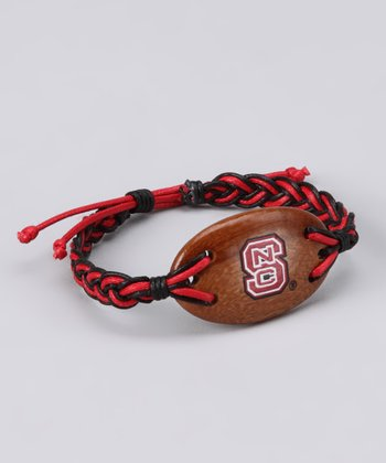 Red & Black North Carolina State Cord Bracelet - Women