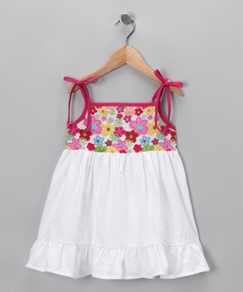 Hot Pink Flower Dress - Infant, Toddler & Girls