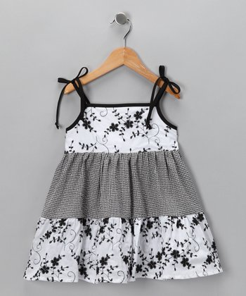 Black Flower Dress - Infant & Girls
