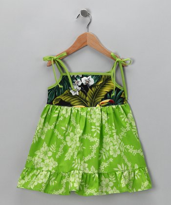 Green Jungle Dress - Infant, Toddler & Girls