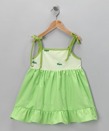 Green Alligator Dress - Infant, Toddler & Girls