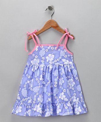 Lavender Tropical Dress - Infant, Toddler & Girls