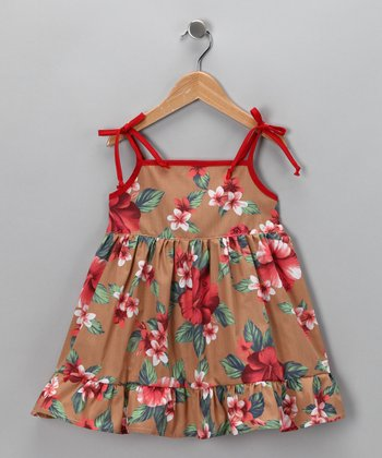 Brown Hawaiian Dress - Infant, Toddler & Girls