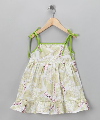 Green Cherry Dress - Infant, Toddler & Girls