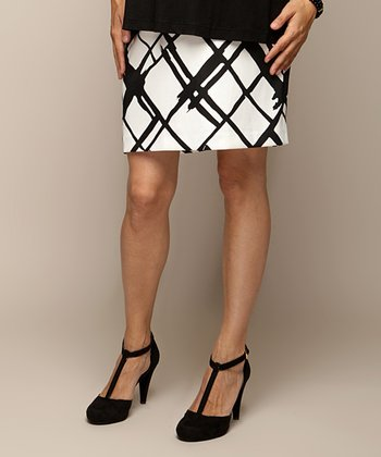 Black & White Beth Maternity Skirt - Women