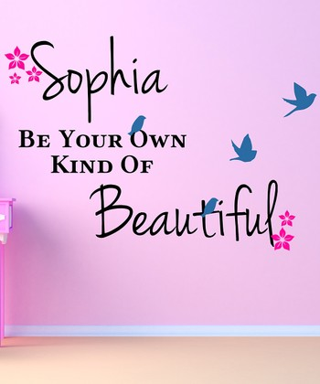 'Own Kind of Beautiful' Personalized Wall Decal Set
