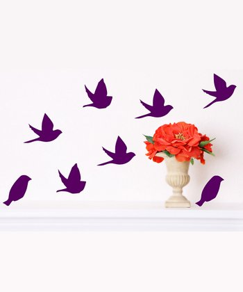 Orchid Bird Wall Decal Set