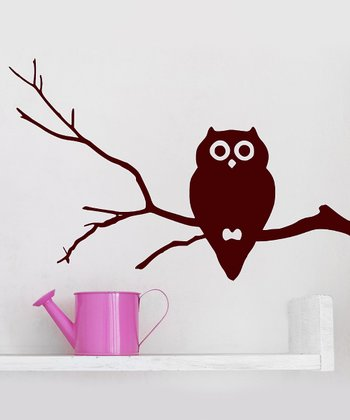 Brown Owl Branch Wall Decal