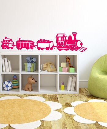 Hot Pink Train Wall Decal