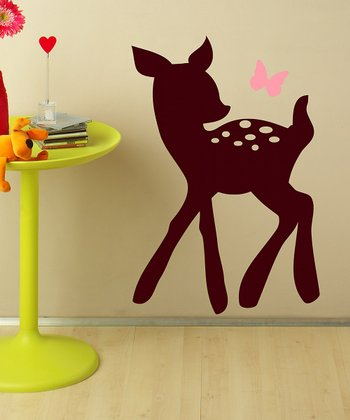 Pink & Brown Fawn Wall Decal Set