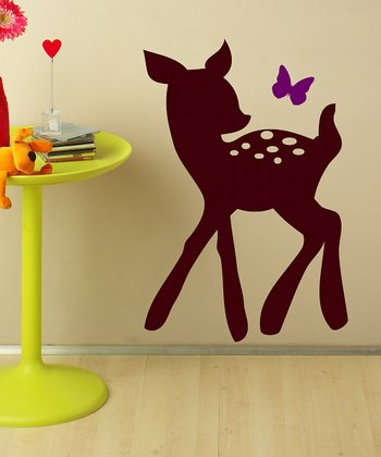 Purple & Brown Fawn Wall Decal Set