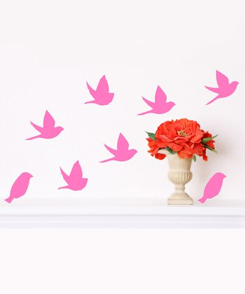 Pink Bird Wall Decal Set