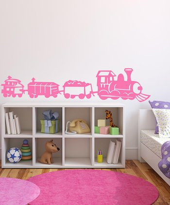 Light Pink Train Wall Decal