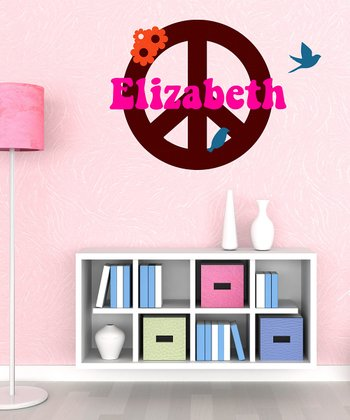 Peace Sign Personalized Wall Decal