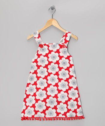 Red & White Floral Jumper - Toddler & Girls
