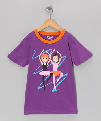 Purple Ballerina Tee - Toddler & Girls