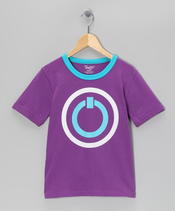 Purple On/Off Tee - Boys