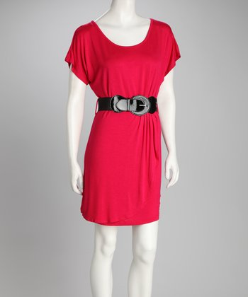 Cherry Belted Dress