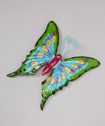 Green Butterfly Wall Art