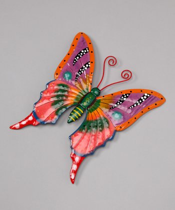 Orange Butterfly Wall Art