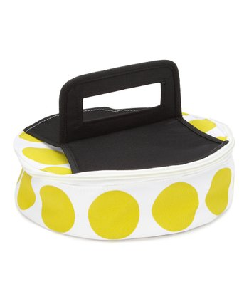 Green Polka Dot Round Insulated Food Carrier