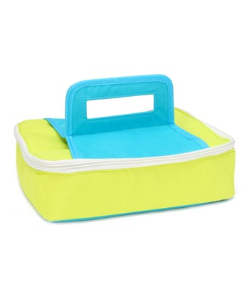 Green & Blue Square Insulated Food Carrier