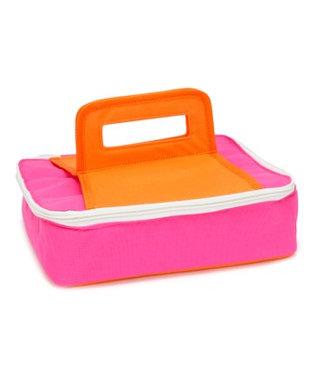 Pink & Orange Square Insulated Food Carrier