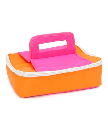 Orange & Pink Square Insulated Food Carrier