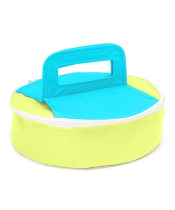 Green & Blue Round Insulated Food Carrier