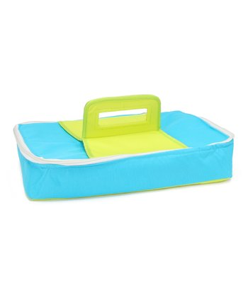 Blue & Green Rectangular Insulated Food Carrier