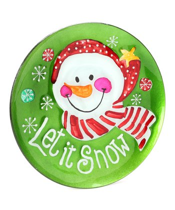 'Let it Snow' Snowman 12'' Plate