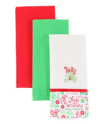 'Holly Jolly' Dish Towel Set