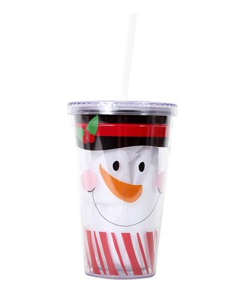 Red Snowman Face 18-Oz. Tumbler
