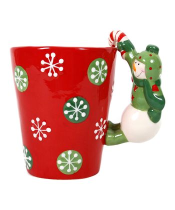 Dennis East International Snowman Handle Latte Mug