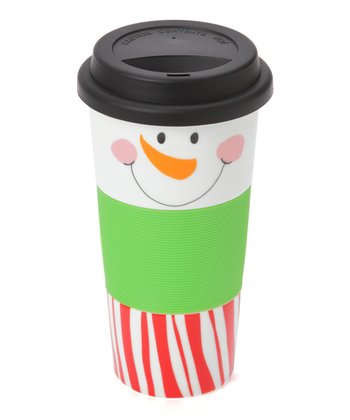 Red & White Snowman Face 13-Oz. Tumbler