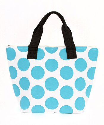 Blue Polka Dot Lunch Tote