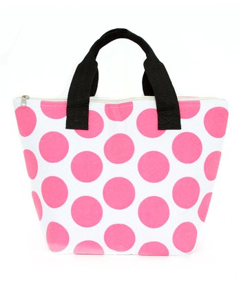 Pink Polka Dot Lunch Tote