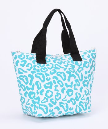 Blue Leopard Insulated Lunch Tote