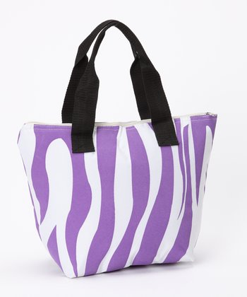 Purple Zebra Insulated Lunch Tote