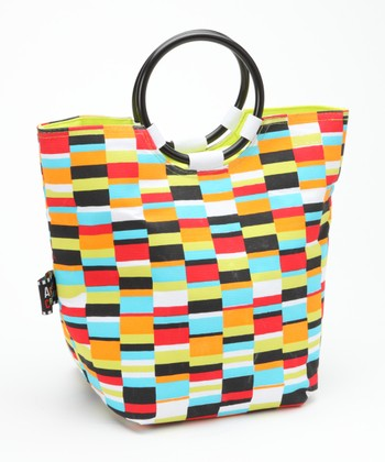 Geometric Insulated Lunch Tote