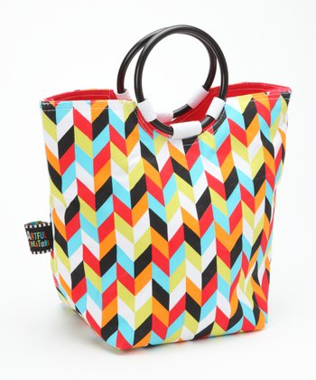 Chevron Insulated Lunch Tote