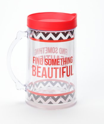 'Find Something Beautiful' Double Wall Mega Mug