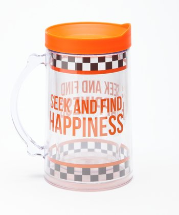 'Seek and Find Happiness' Double Wall Mega Mug