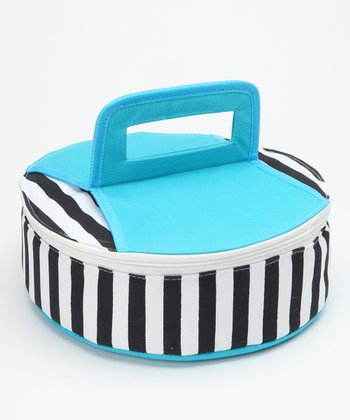 Blue Round Insulated Food Carrier