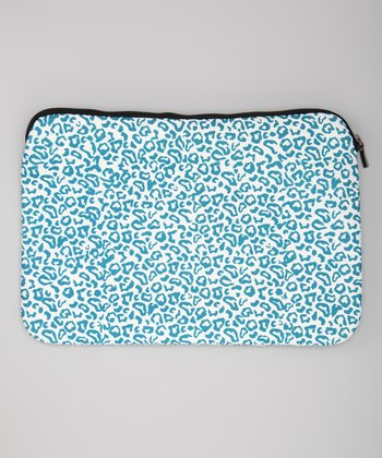 Blue Leopard Sleeve for Laptops