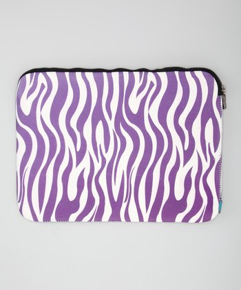 Purple Zebra Sleeve for Laptops