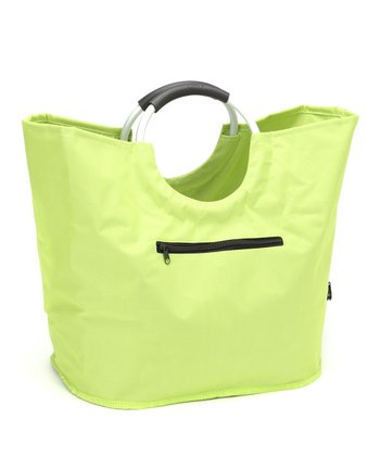 Green O-Handle Shopping Tote