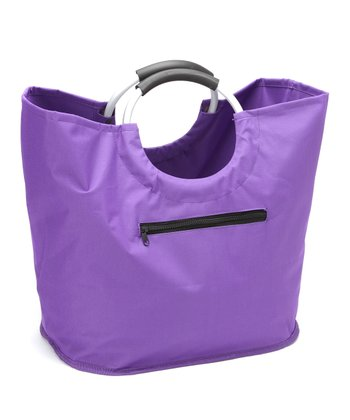 Purple O-Handle Shopping Tote