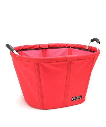 Red O-Handle Laundry Tote