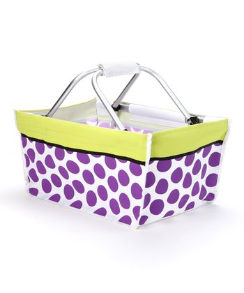 Purple Polka Dot Market Basket